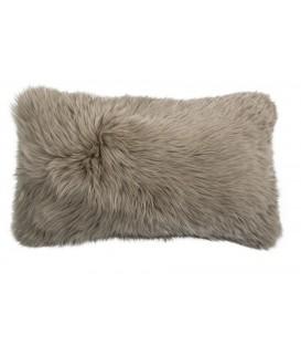 Australian sheep fur cushion TAUPE