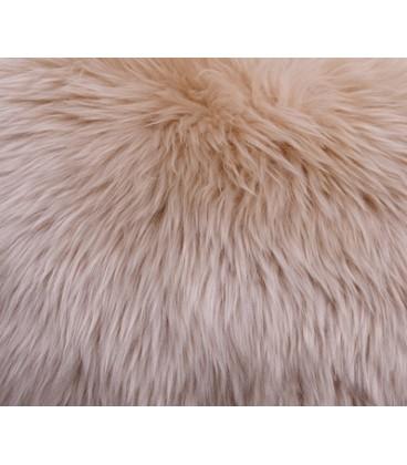 Coussin fourrure mouton australien - Beige