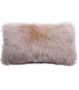 Australian sheep fur cushion BEIGE