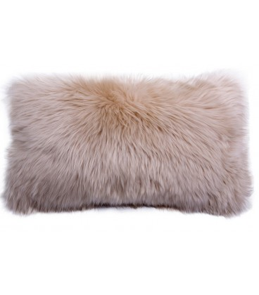 Australian sheep fur cushion - Beige