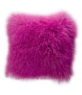 Real fur cushion MOGOLIAN PINK