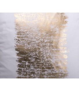 Coussin doré métallique