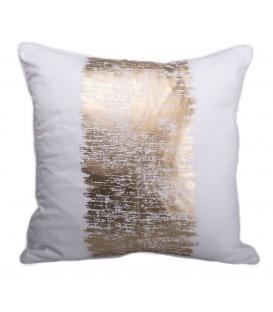 Metallic gold cushion