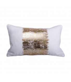 Metallic gold cushion