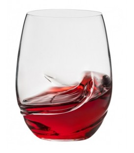 Set of 2 stemless wine glass OXYGEN