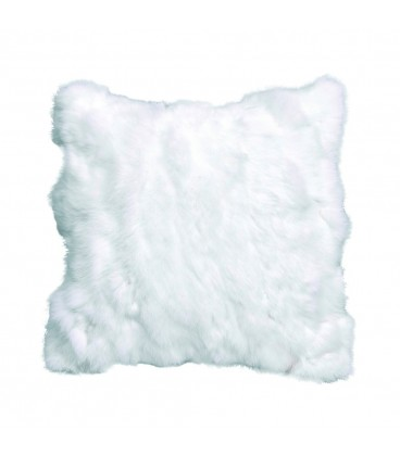 Cushion in real fur white rabbit ALE