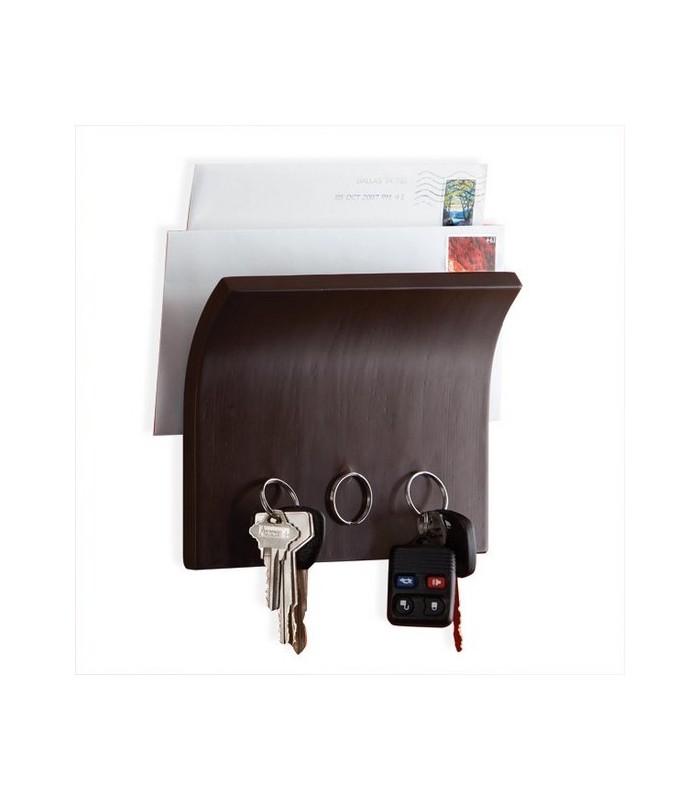 panneau magn tique pour cl s brun. Black Bedroom Furniture Sets. Home Design Ideas