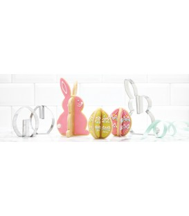 3D Rabbit and Egg-shapped cookies cutters RICARDO