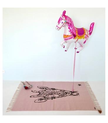 Tapis rose girafe GYPSY