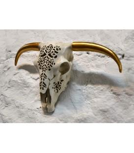 Crâne taureau à cornes lumineux