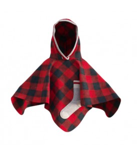 Red kid's poncho POOK