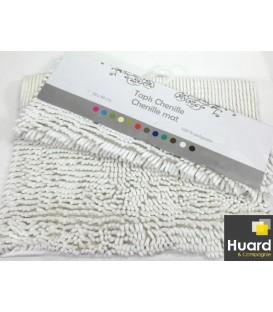 Tapis chenille blanc