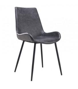 Chaise vintage gris foncé JACY