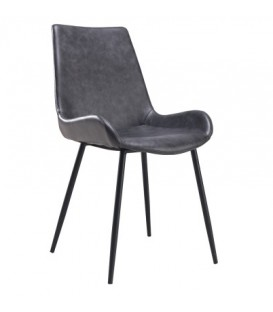 Dark grey vintage chair JACY