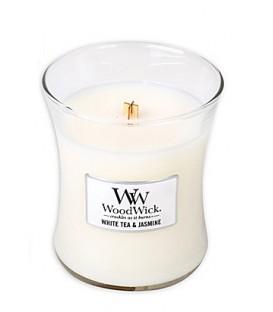 WoodWick Medium Candle WHITE TEA AND JASMINE