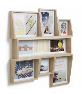 EDGE walnut multi photo display