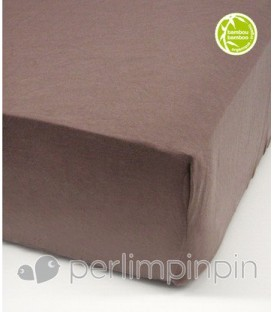 Crib bamboo fitted sheet - CHOCOLATE