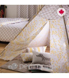 Kid's tipi YELLOW SQUARE