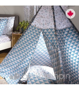 Kid's tipi BLUE TRIANGLE