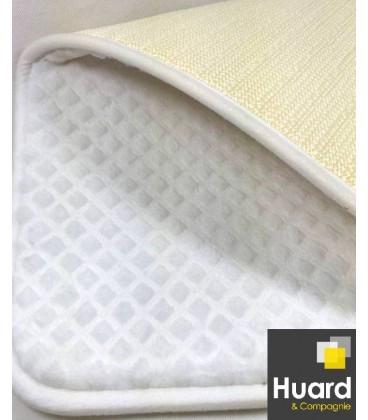 White embossed rug