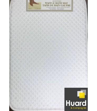 Tapis gauffré blanc