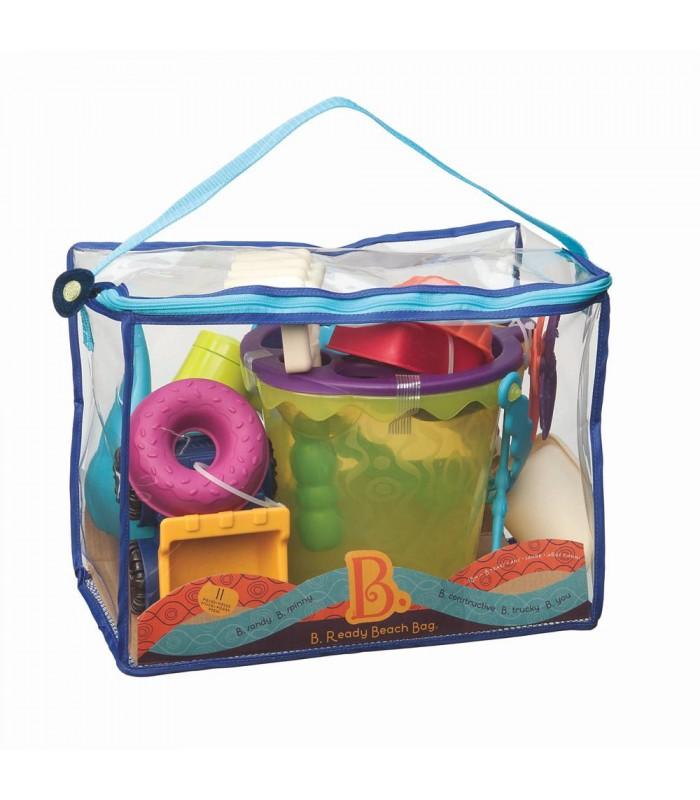 sac de plage avec jouet b huard et compagnie. Black Bedroom Furniture Sets. Home Design Ideas