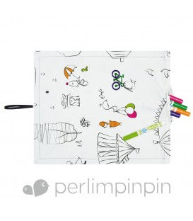 Placemat to color Perlimpinpin