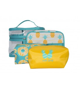 Pineapple cosmetic bag set  4PC