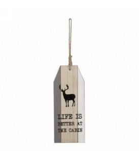 Déco à susp - Life is better at the cabine