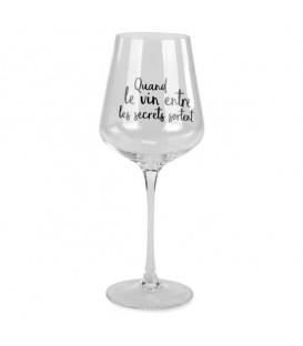 Verre de vin en cristal QUAND LE VIN ENTRE LES SECRETS SORTENT