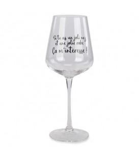 Verre de vin en cristal ÇA M'INTÉRESSE