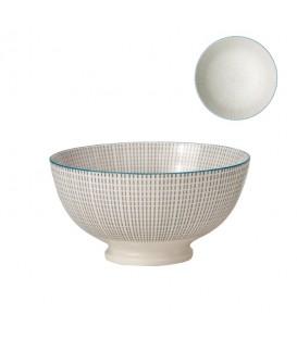 Bol en porcelaine GRIS/BLEU