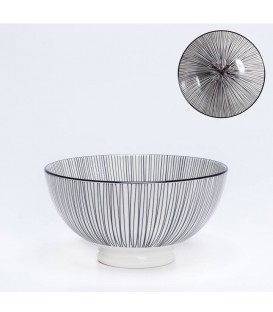 Pocelain bowl WHITE/BLACK