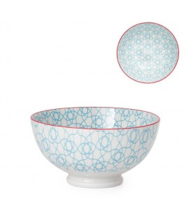 Pocelain bowl WHITE/BLEUE