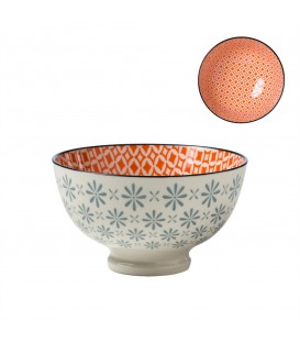 Pocelain bowl BLEUE/ORANGE