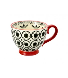 Ceramic mug black and red