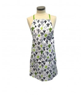 Apron cactus grey and green