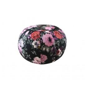Pouf décoratif à fleurs