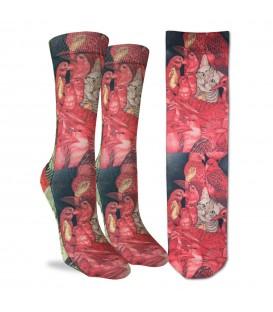 Women's Tartan Cat Socks