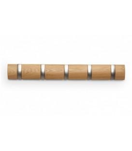 Crochets bois naturel FLIP 5