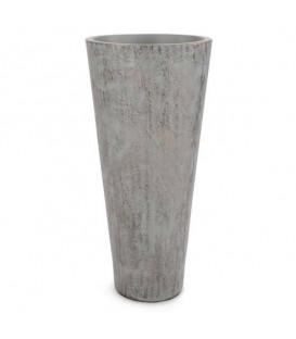 Grand vase gris et doré