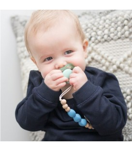 Blair Blue Pacifier Clip