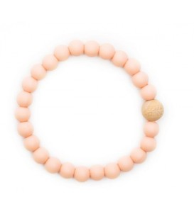 Payton Peach Teething Bracelet