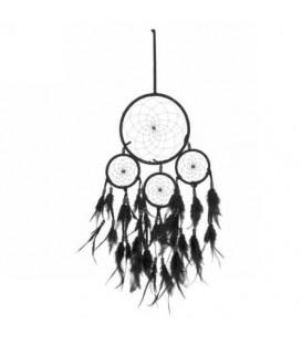 Attrapeur de rêves  noir avec plumes
