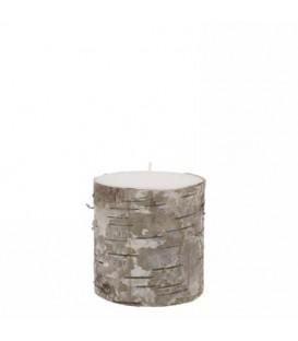Chandelle pilier blanche
