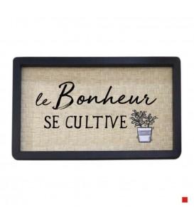 Frame in french LE BONHEUR SE CULTIVE