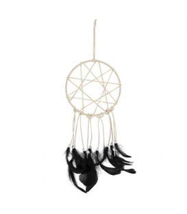 Beautiful dream catcher with beautiful black feathers
