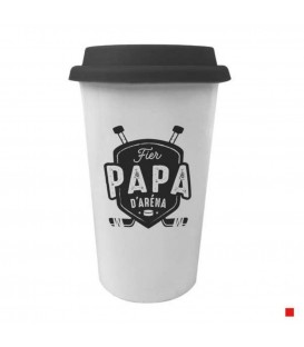 Travel Mug in french PAPA D'ARÉNA
