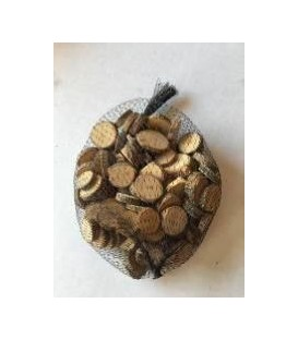 Deco bag of mini wooden logs