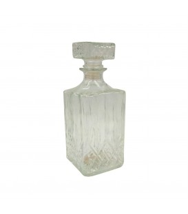 Transparent glass carafe  9 x 23 cm